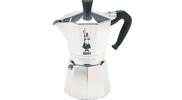 <b>2. BIALETTI MOKA EXPRESS: </b><br/>A traditional - and inexpensive - way to get your morning shot. Just add coffee and water to this portable stainless-steel classic, put it on a hot cooker hob, let the internal pressure valves work their magic, and, hey presto, espresso heaven. £30, salamandercookshop.com