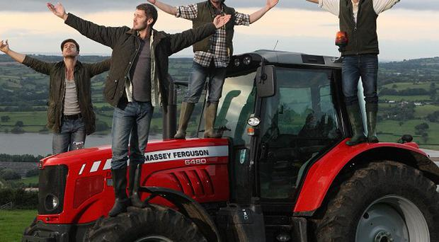 Farmyard boyband The Churned's first single Forever will debut in a two-minute ad during this Saturday's X-Factor