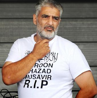 Tariq Jahan has been charged with assault in connection with an alleged road-rage incident a month before his son died