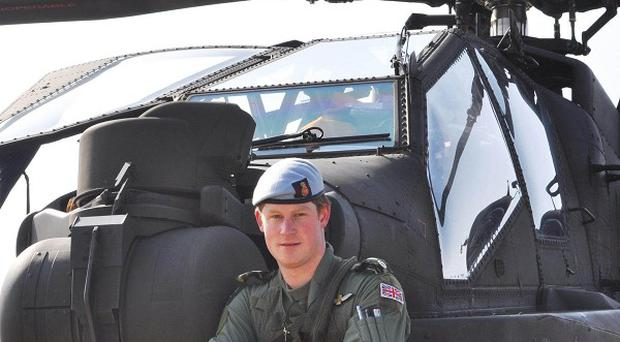 Prince Harry is undertaking a two-month course flying helicopters in California