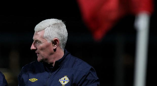 ©Press Eye Ltd Northern Ireland- 07th October 2011 Mandatory Credit - Photo-William Cherry/PresseyeEuro 2012 qualifier - Northern Ireland v EstoniaNorthern Ireland manager Nigel Worthington after Friday nights Euro 2012 qualifier against Estonia at Windsor Park.