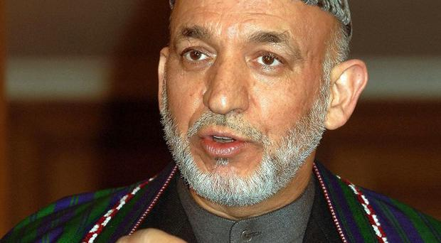 The president of Afghanistan Hamid Karzai said the Taliban can find sanctuary in Pakistan