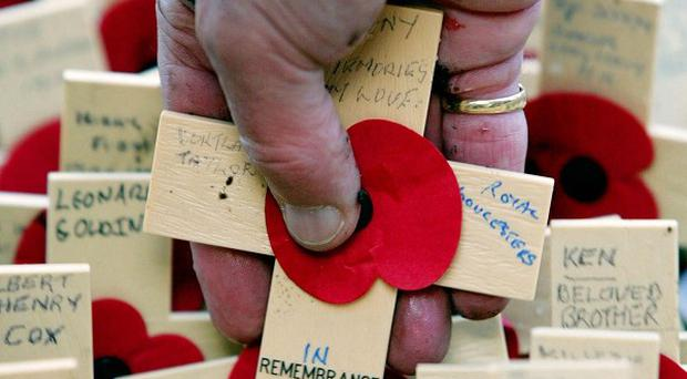 Police are hunting mindless vandals who destroyed the war memorial in Prestbury, near Cheltenham