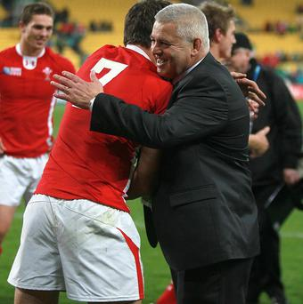 Sam Warburton (left) and Warren Gatland