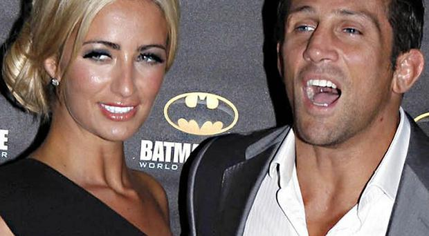 Chantelle Houghton and Alex Reid have got engaged after the cage fighter proposed on live television
