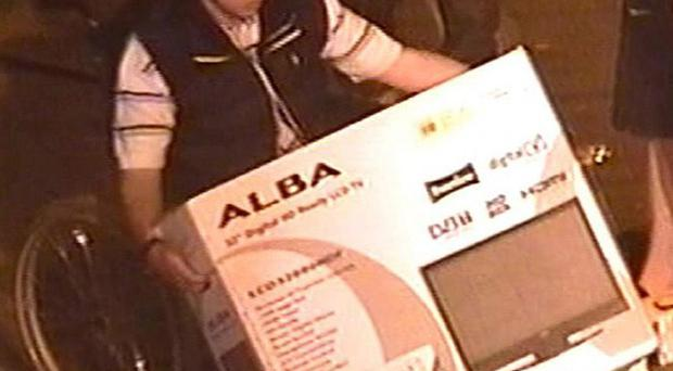 David Knott was caught on CCTV images holding a TV from an Argos store during the recent rioting
