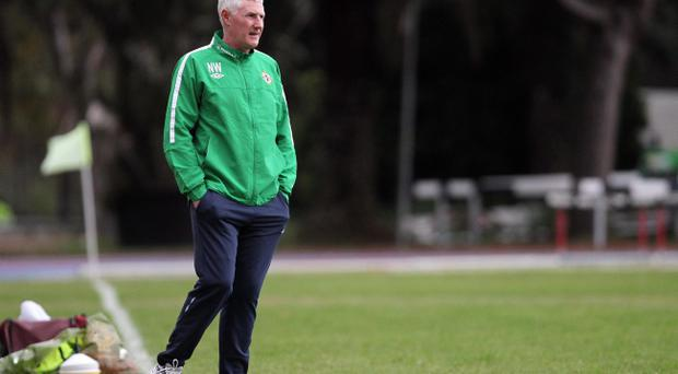 Nigel Worthington pictured yesterday in Italy in what could be one of his last training sessions with Northern Ireland