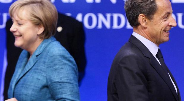 The PM called on Germany, lead by Angela Merkel and France lead by Nicolas Sarkozy to bury their differences