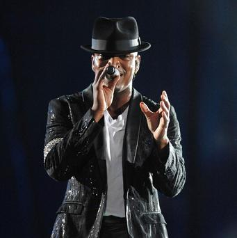 Ne-Yo performs at the Michael Jackson Forever tribute concert at the Millennium Stadium in Cardiff