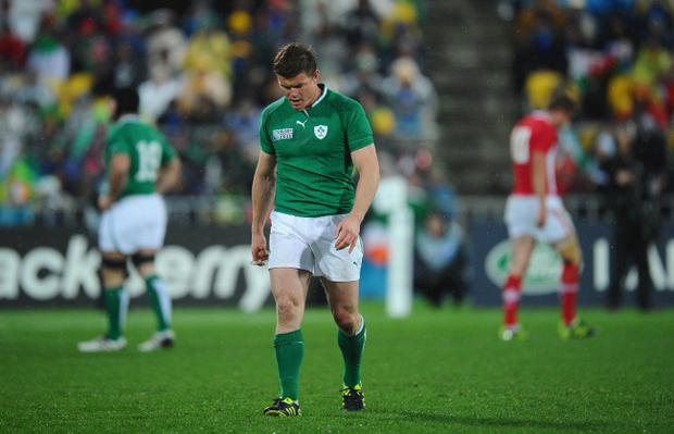 Ireland captain Brian O'Driscoll's World Cup is over