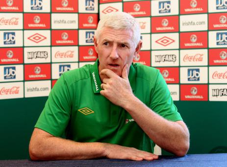 Northern Ireland manager Nigel Worthington resigns during today's press conference