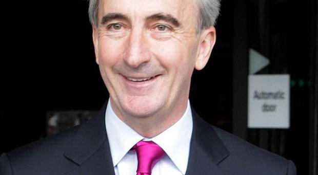 Presidential Candidate Gay Mitchell leaving RTE studios in Dublin