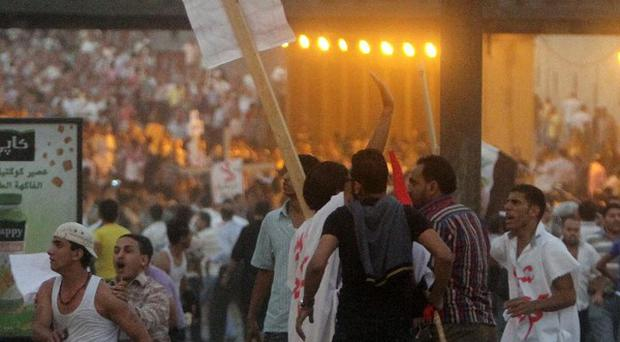 Clashes erupt at a protest by Coptic Christians in Cairo, Egypt (AP)