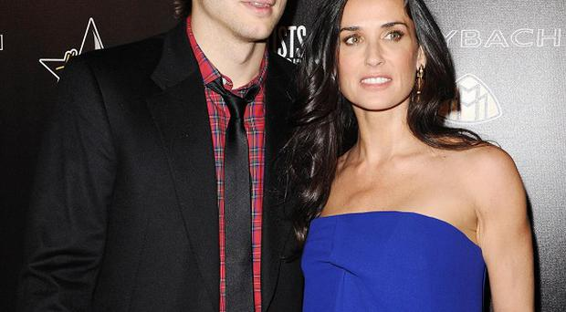 Ashton Kutcher and Demi Moore have put on a united front