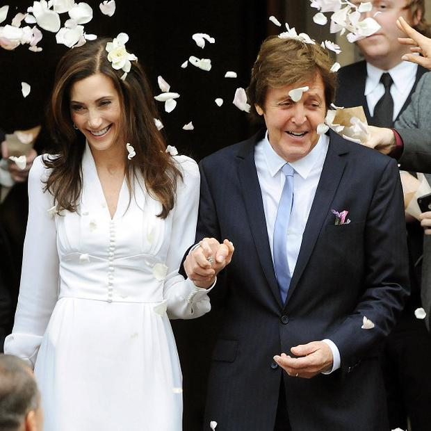 Sir Paul McCartney and Nancy Shevell are thought to have danced to a DJ set by Mark Ronson