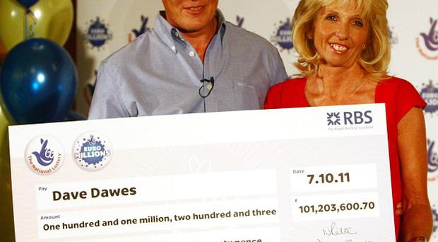 Angela and Dave Dawes from Cambridgeshire scooped more that 100 million pounds on only their third-ever lottery ticket
