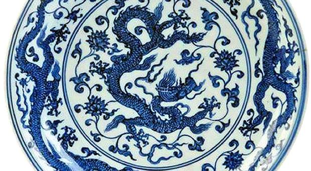 The 25cm Chinese porcelain dish owned by a family in Northern Ireland that sold for £271,000