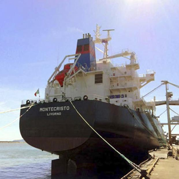 The Montecristo Italian cargo ship that was attacked by pirates off the coast of Somalia(AP)