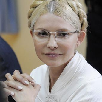 Former Ukrainian prime minister Yulia Tymoshenko during her trial, she has been jailed for seven years(AP)