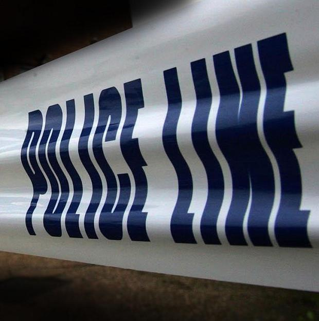 A girl suffered a cut to her arm from broken glass during an attack on a house in Belfast