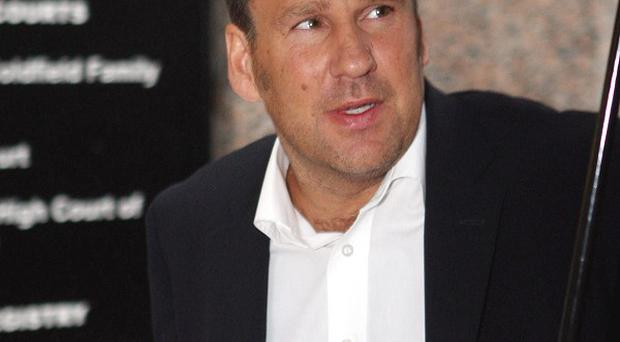 Sky Sports pundit Paul Merson crashed his Mercedes on the M40 near Warwick