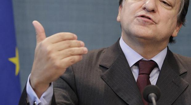 European Commission president Jose Manuel Barroso and Enda Kenny held talks in Brussels (AP)