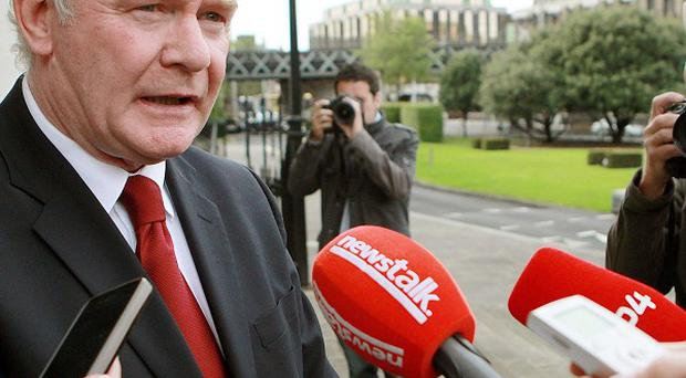 Martin McGuinness said questions from RTE presenter Miriam O'Callaghan were 'totally out of order'