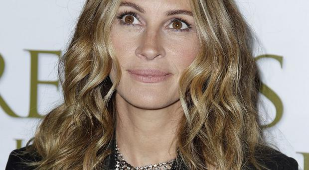 Julia Roberts said it was moving seeing her son on film as a bump