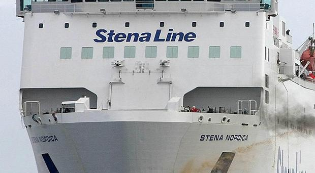 A Stena ferry sailing between Scotland and Northern Ireland lost power and was left drifting