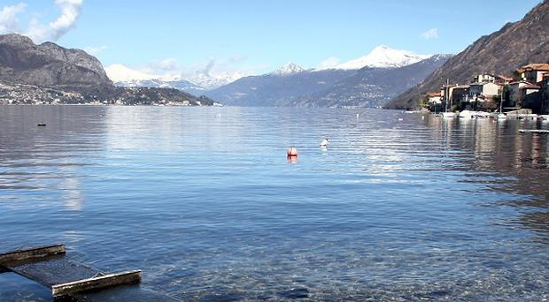 Italian police are searching for a British tourist who has gone missing near Lake Como