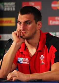 Sam Warburton was sent off against France in the World Cup semi-final
