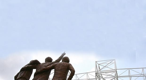 Bobby Charlton, Denis Law and George Best keep watch over Old Trafford in statue form