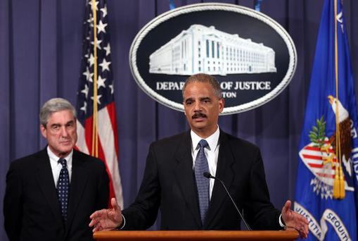 Lost the plot: Eric Holder announces details of the foiled assassination attempt