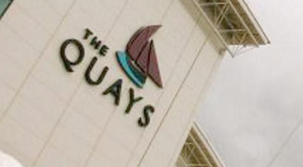 The newley crowned Maiden of The Mournes,Helen Weir from WestMeath stopped off at The Quays Shopping Centre Newry