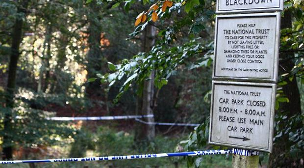 A woman's body has been discovered at Blackdown Woods near Lurgashall, West Sussex