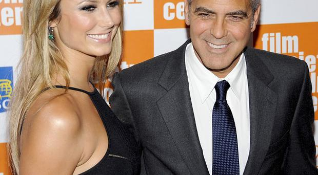 George Clooney stepped out with girlfriend Stacy Keibler in New York