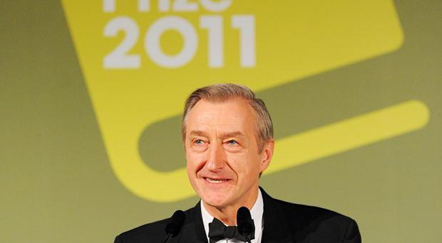 Julian Barnes makes a speech after being announced as the winner of the Man Booker prize