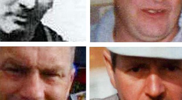 From top left, Garry Jenkins, Phillip Hill, David Powell and Charles Breslin, were killed at Gleision Colliery