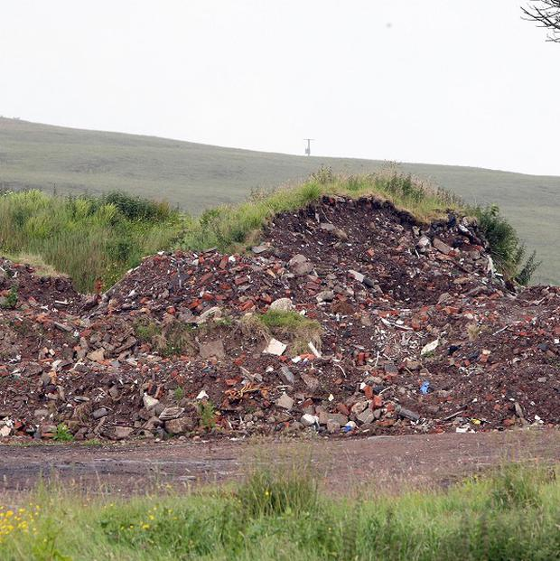 Illegal waste disposal is a major problem in Northern Ireland