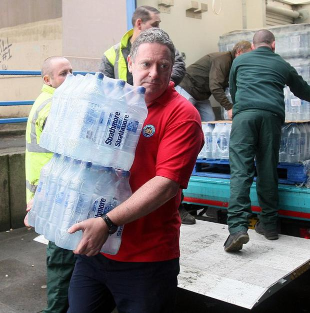 A total of 250,000 litres of bottled reserves have been stockpiled by Northern Ireland Water