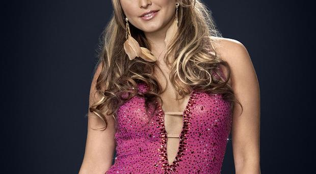 Holly Valance is finding her Strictly training tough