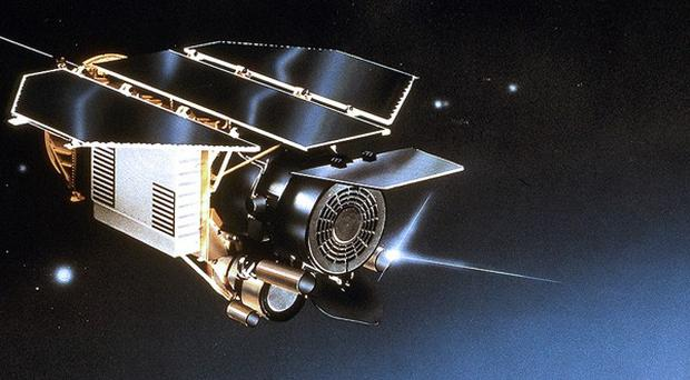 Germany's Rosat satellite which is due to return to Earth out of control at the weekend(AP)