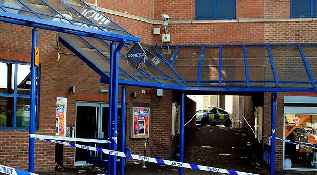 Police tape outside the Lava and Ignite night club in Northampton, where a young woman died