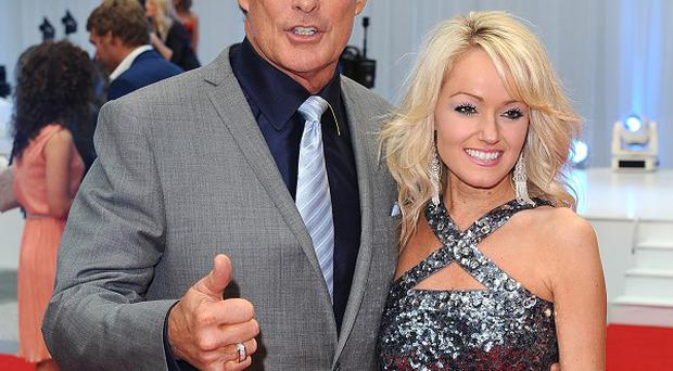 David Hasselhoff has denied he and girlfriend Hayley Roberts have split up