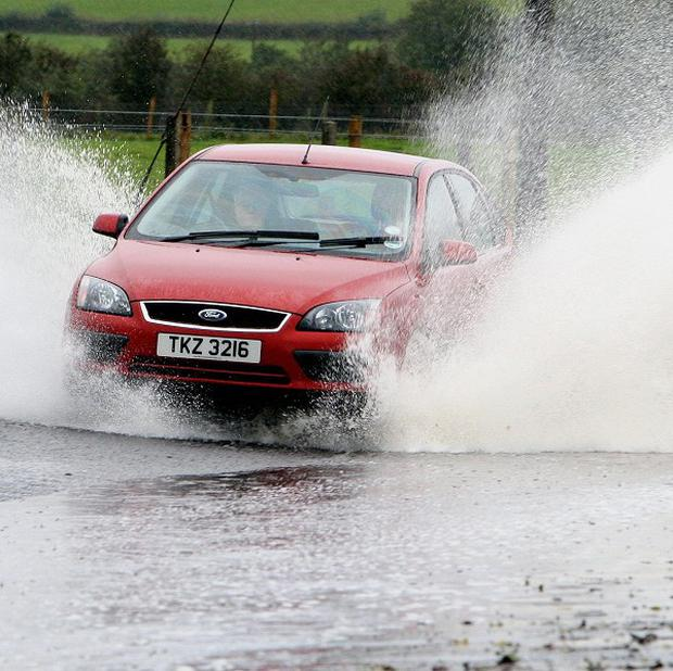 Northern Ireland has been hit by heavy rainfall