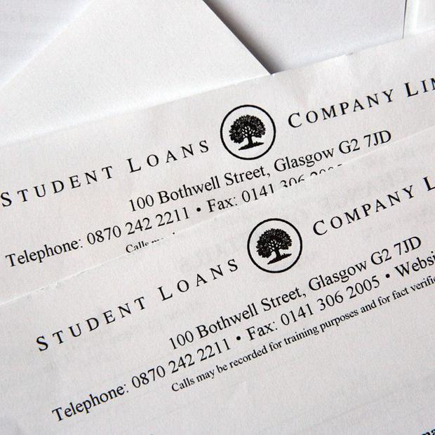 A Student Loans Company office was evacuated over white powder found in an envelope
