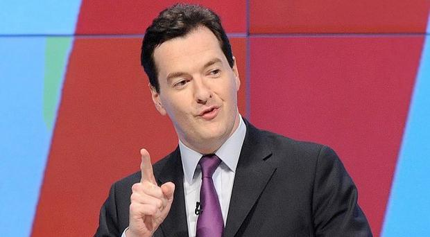 The latest public borrowing figures boosted Chancellor George Osborne's deficit reduction plans