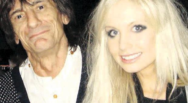 Blonde ambition: Nicola with Ronnie Wood