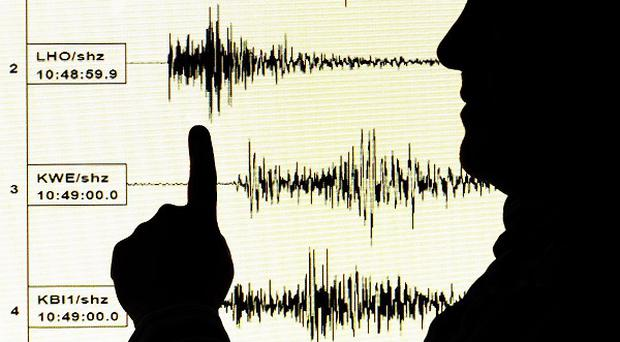 The US Geological Survey said a quake struck about 541 miles south of Tonga