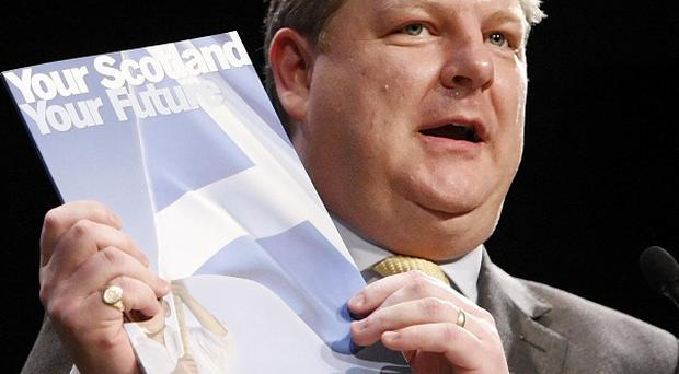 MP Angus Robertson talks about the Roadmap to Independence during the last day of the SNP annual conference